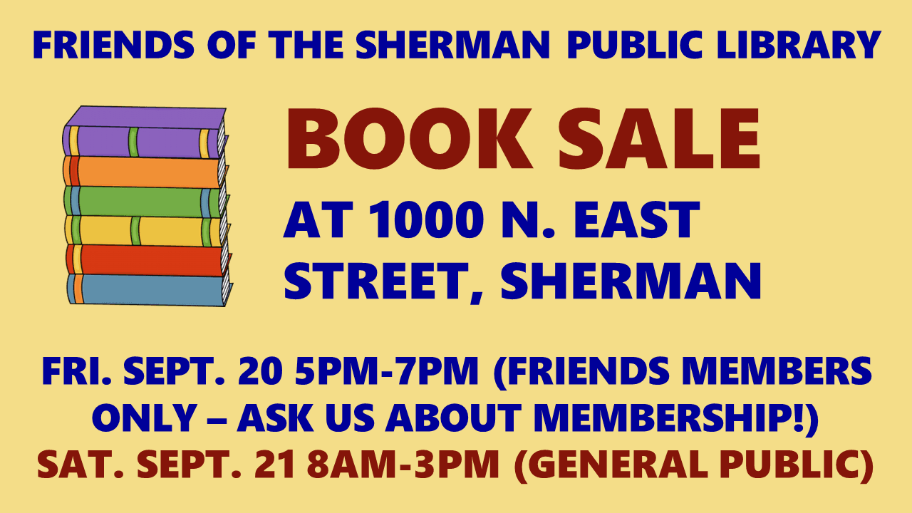 Book Sale 9-19 Slideshow Slide