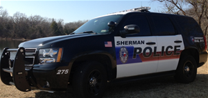 Sherman police vehicle