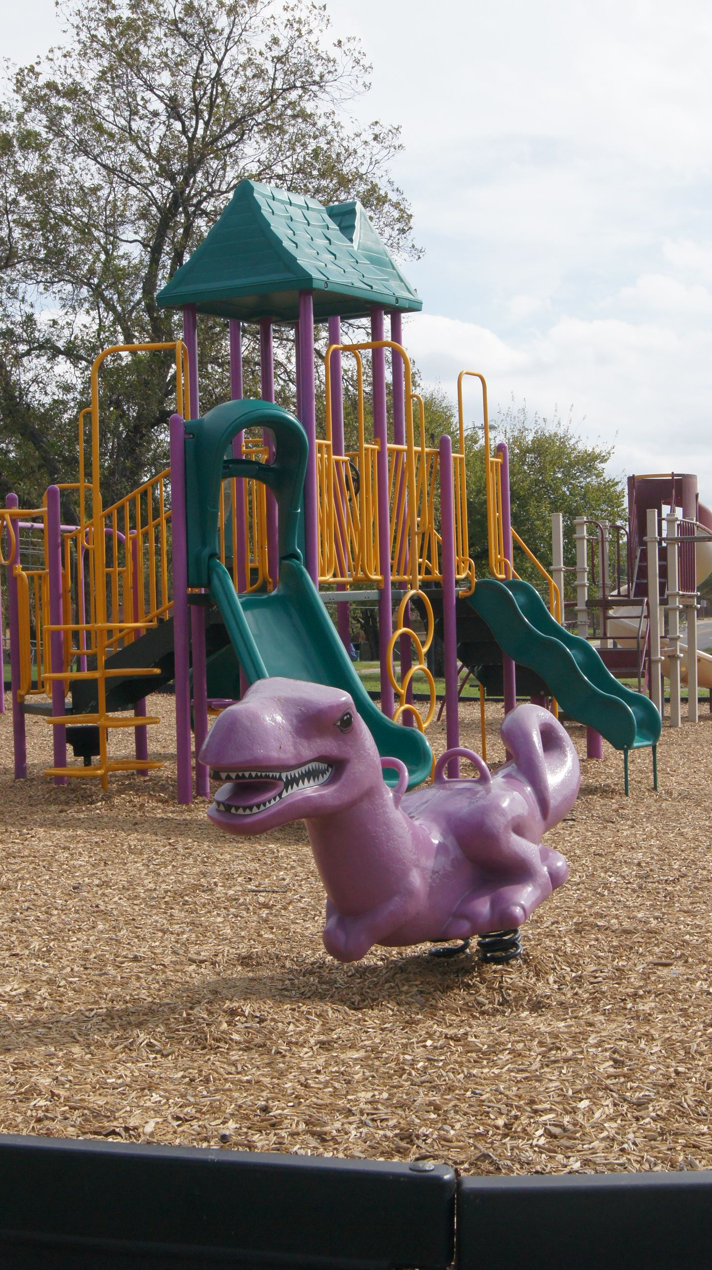 playground and dinosaur